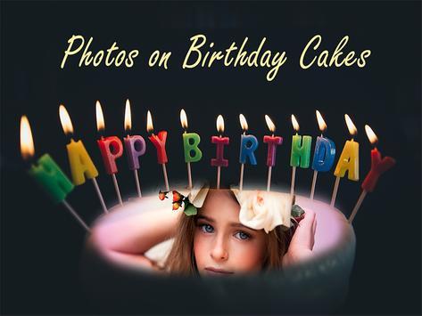 Birthday Cake Photo Frames Maker poster