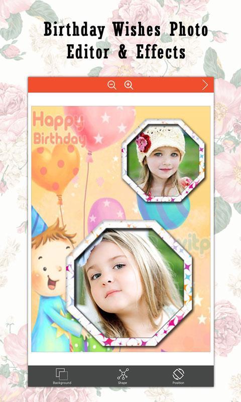 Birthday Wishes Photo Editor Effects Screenshot 3