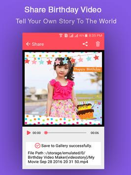 Birthday Video Maker screenshot 5