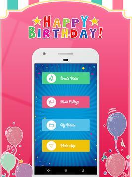 Happy Birthday Video Maker poster