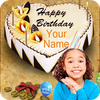 Photo Name on Birthday Cake आइकन