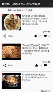 Biryani Recipes Videos apk screenshot