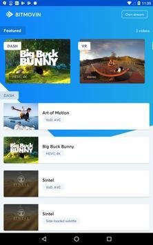 Bitmovin Player apk screenshot