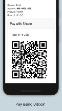 Easy Prepaid Mobile Recharge App Online by Bitcoin apk screenshot