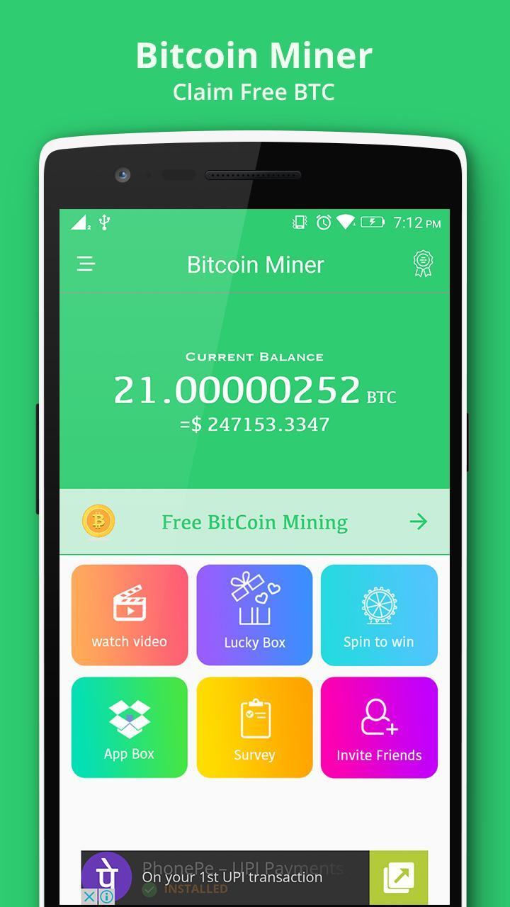 Bitcoin Miner Claim Free Btc For Android Apk Download