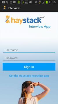 Haystack Interview poster