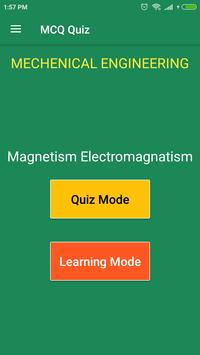 Magnetism Electromagnetism MCQ Quiz poster