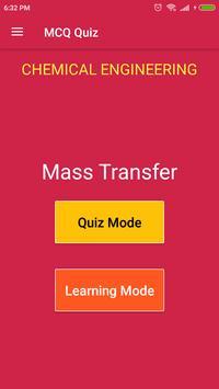 Mass Transfer MCQ Quiz poster