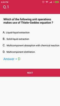 Mass Transfer MCQ Quiz screenshot 4