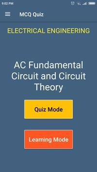 AC Fundamental Circuit & Circuit Theory MCQ Quiz poster