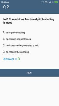 DC Motor (Electrical Engineering) MCQ Quiz screenshot 6