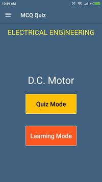 DC Motor (Electrical Engineering) MCQ Quiz poster