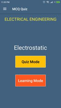 Electrostatic (Electrical Engineering) MCQ Quiz poster
