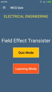 Field Effect Transistor (Electrical Engg) MCQ Quiz poster