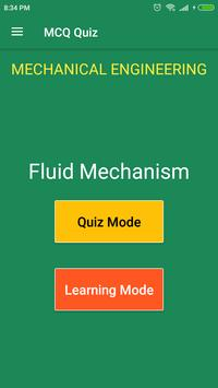 Fluid Mechanics (Mechanical Engineering) MCQ Quiz for