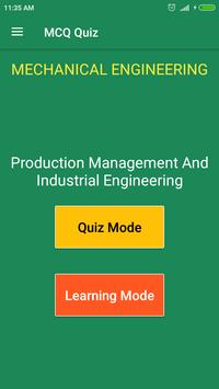 Production Management & Industrial Engineering MCQ poster