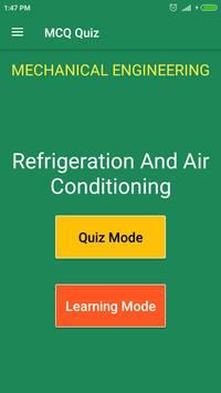 Refrigeration & Air Conditioning MCQ Quiz poster