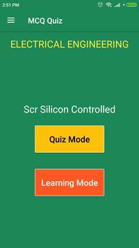 SCR Silicon - Controlled MCQ Quiz poster