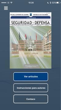Revista Estudios en Seguridad y Defensa poster