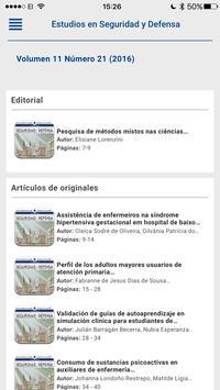 Revista Estudios en Seguridad y Defensa apk screenshot