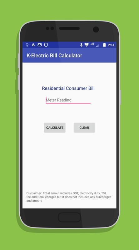 bill calculator for k electric apk download free tools app for