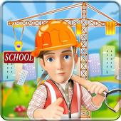 School Building Construction Site: Builder Game icon