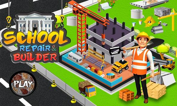 School Building Construction Site: Builder Game poster