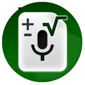 Audio calculator voice icon