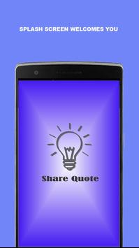 Share Quote poster