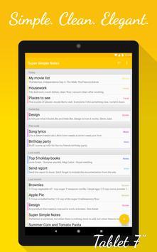 Notes (Super Simple Notes) apk screenshot