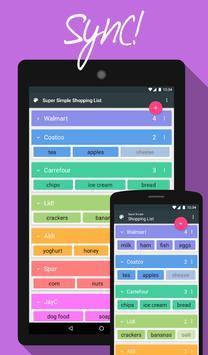 Super Simple Shopping List apk screenshot