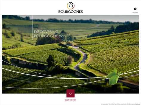 Discovering Bourgogne wines poster