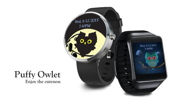 Puffy Owlet Watch Face poster