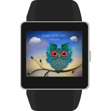 Puffy Owlet Watch Face apk screenshot
