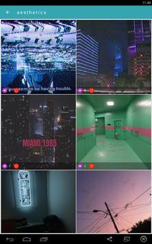 Vaporwave Wallpapers🌴GIF Aesthetic Backgrounds🐬 apk screenshot