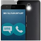 SMS/CALL Flashlight Alert 2015 icon