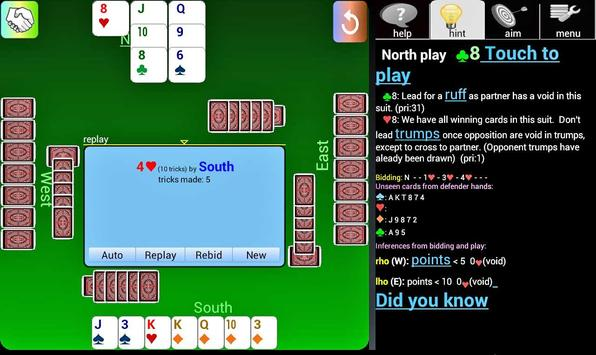 Duplicate Bridge Beginner apk screenshot