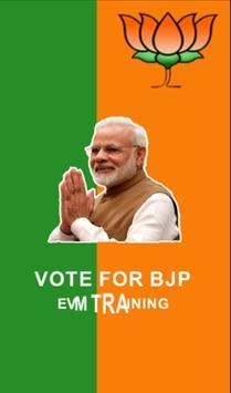 BJP EVM Training poster