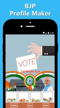 BJP Profile Maker poster