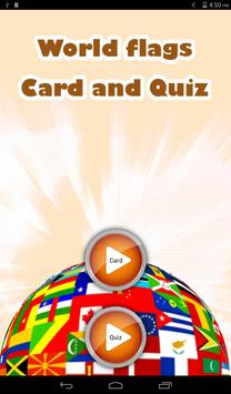 World Flag Car and Quiz poster