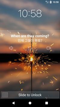 Learn English on Lockscreen poster