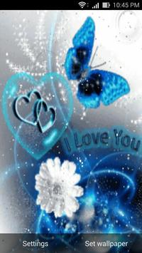 love 3d live wall paper poster
