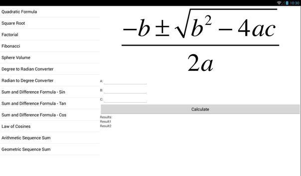BK Formula Calculator screenshot 4