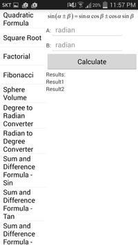 BK Formula Calculator screenshot 2