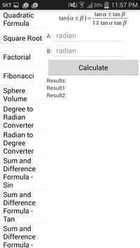 BK Formula Calculator apk screenshot