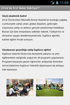 Zirve Üniversitesi screenshot 1