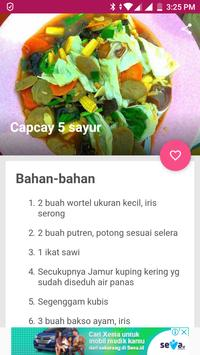 Resep Capcay Sayuran Sederhana screenshot 4