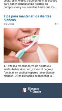Como blanquear los dientes apk screenshot