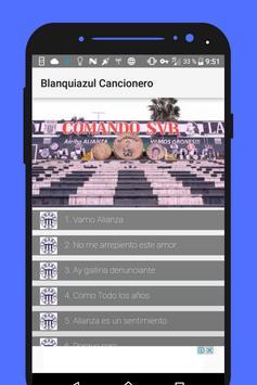 Cancionero Blanquiazul poster