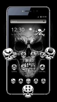 Black Death Skull Theme poster